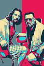 The Big Lebowski Revisited - The Dude and Walter No.2 by Serge Averbukh