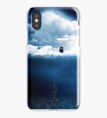 There is a man who lives on a cloud. iPhone Case