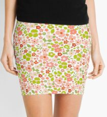 Christmas Florals Mini Skirt