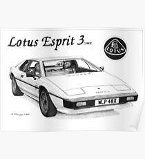 LOTUS ESPRIT 3 (1982) Poster