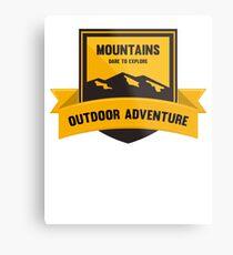 Mountains Dare to explore T-shirt Metal Print