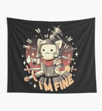 I'm Fine Wall Tapestry