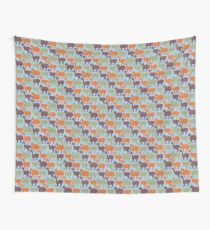 Repeating Colorful Dinosaurs Wall Tapestry