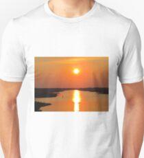 Sunset From The Oak Island Bridge Unisex T-Shirt