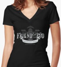 Friend of the Pod - Daemons Discuss! Women's Fitted V-Neck T-Shirt