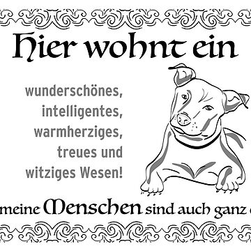 Family with Bulldogs- the perfect living community! Gift idea for dog owners, for inauguration or birthday. by qwerdenker