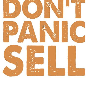 Dont Panic Sell Crypto Currency Bitcoin by Manqoo