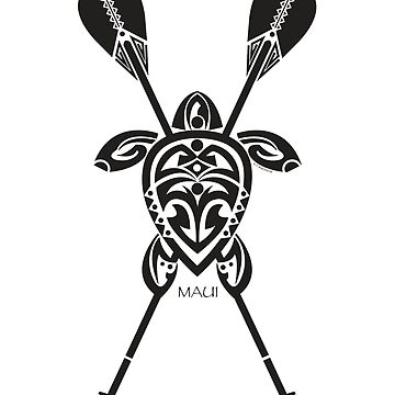 Tribal Turtle 2 Stand-Up / Maui by srwdesign