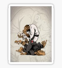 Jiu Jitsu Monkey - Martial arts - Meditation Sticker
