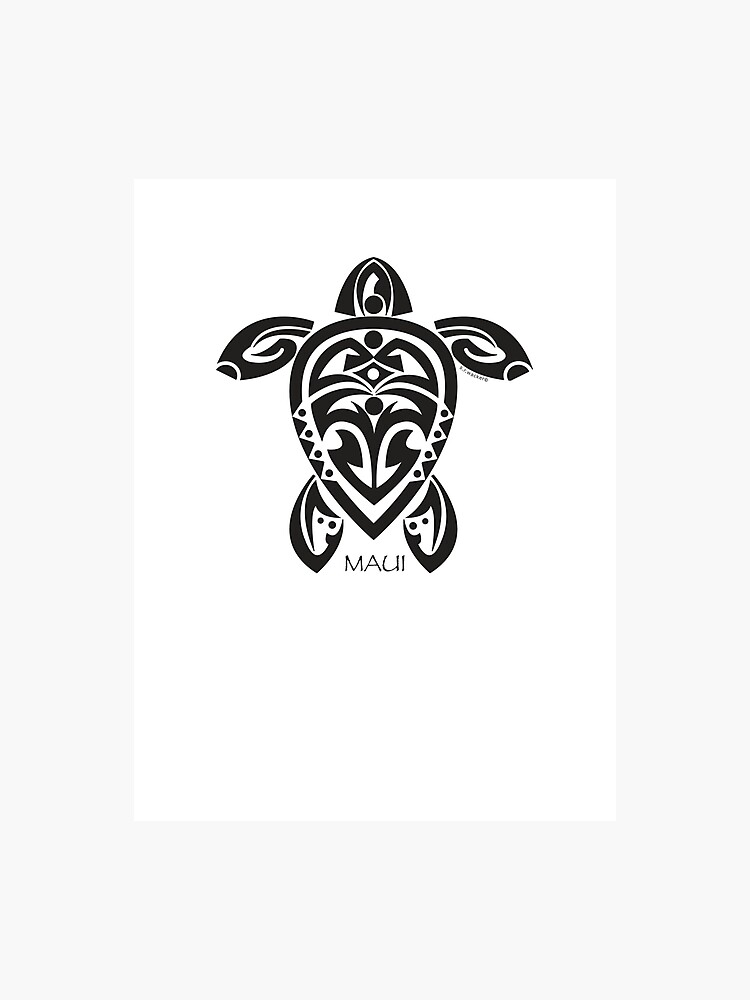 26a2291c9 Black Tribal Turtle Tattoo / Maui