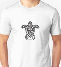 Schwarze Tribal Turtle Tattoo / Maui Slim Fit T-Shirt