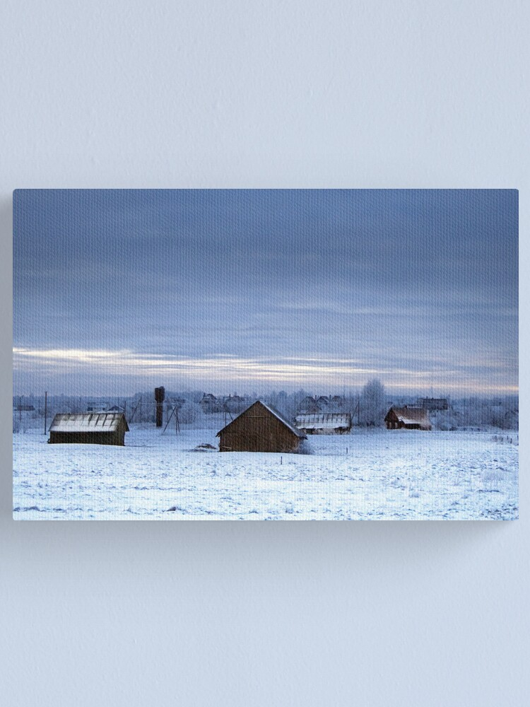 Alternate view of Village in winter Canvas Print
