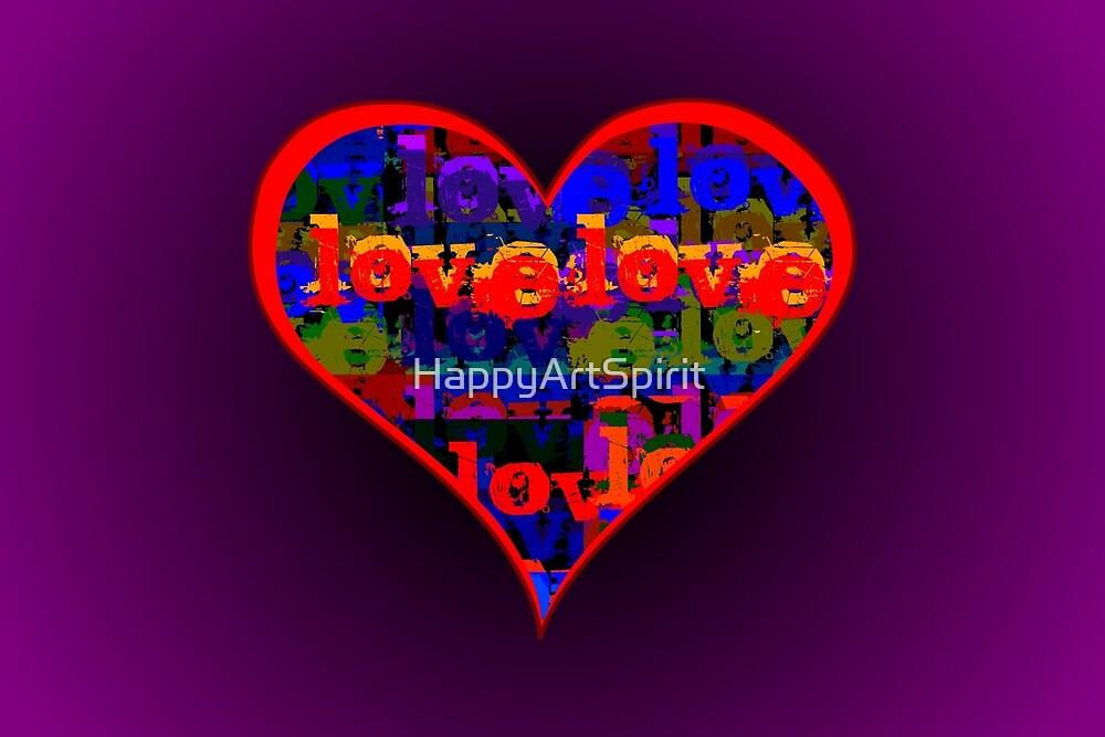 Love Love Heart Purple by M Sylvia Chaume