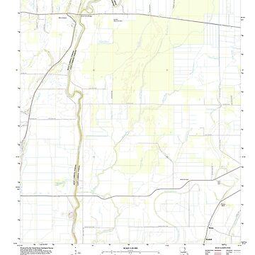 USGS TOPO Map Louisiana LA Baxter Bayou 20120404 TM by wetdryvac