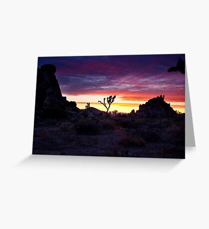 Clouds at Sunset, Joshua Tree Greeting Card