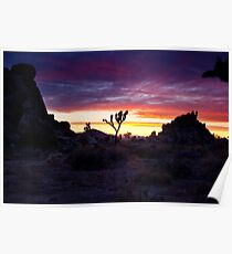 Clouds at Sunset, Joshua Tree Poster