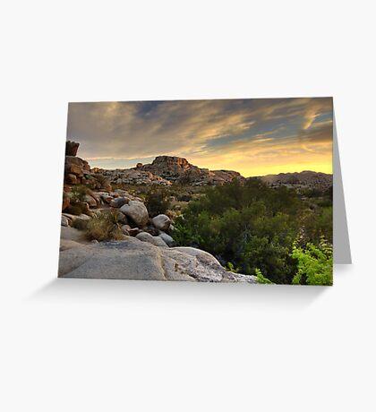 Sunset at Barker Dam Greeting Card