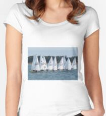 Sailboat Racing Women's Fitted Scoop T-Shirt