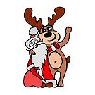 Santa Claus with a deer by Magazin-Brenda