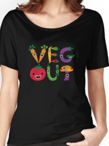 Veg Out - dark colors Women's Relaxed Fit T-Shirt