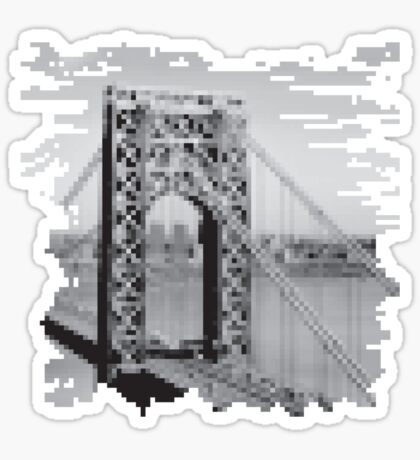 Pixel Bridge Sticker