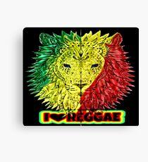 I Love Reggae Canvas Print