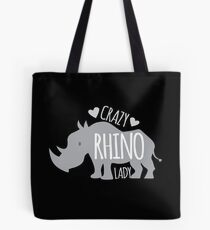 Crazy Rhino Lady Tote Bag