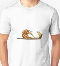 Giraffe Yoga Lustige Unisex T-Shirt
