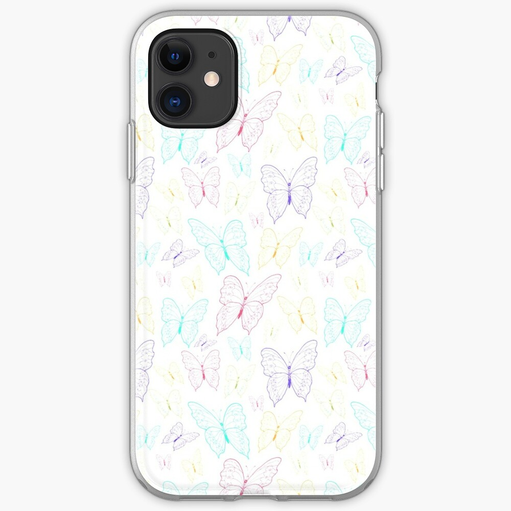 Colourfield of Butterflies (Small Motifs) by Art and Patterns1 iPhone Soft Case