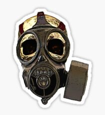 Gasmask Skull Sticker