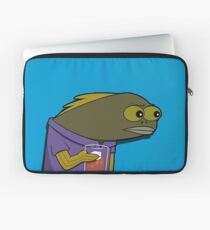 What Did You Do To My Drink? spongebob fish Laptop Sleeve