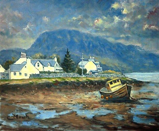 Plockton, Scotland at LowTide by marshstudio