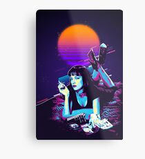 Pulp Fiction Revisited - Night Neon Mia Wallace  Metal Print