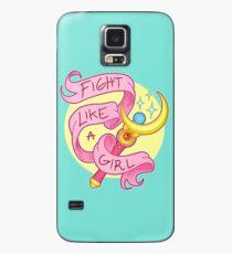 Funda/vinilo para Samsung Galaxy Pelea como una niña