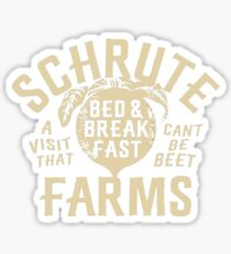 SCHRUTE FARMS - BED AND BREAKFAST Sticker