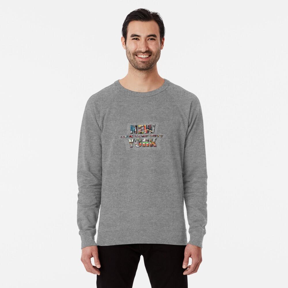 NEW YORK CITY (colour photo-filled type on B&W type background) Lightweight Sweatshirt