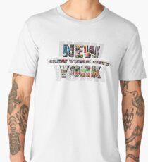 NEW YORK CITY (colour photo-filled type on B&W type background) Men's Premium T-Shirt