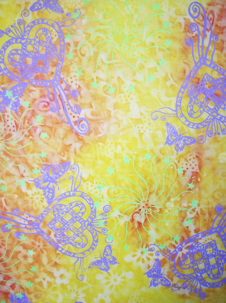 Purple Hearts and Mandalas by GypsyJ