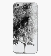 White Faded Tree iPhone Case