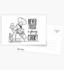 Just Add Colour - Never Trust a Skinny Cook Postcards