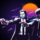 Pulp Fiction Revisited - Urban Neon Vincent Vega and Jules Winnfield by Serge Averbukh