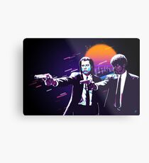 Pulp Fiction Revisited - Urban Neon Vincent Vega and Jules Winnfield Metal Print