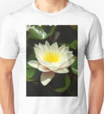 White Water Lily Flower Unisex T-Shirt