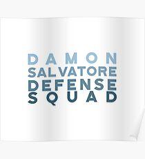 Póster Damon Salvatore Defence Squard