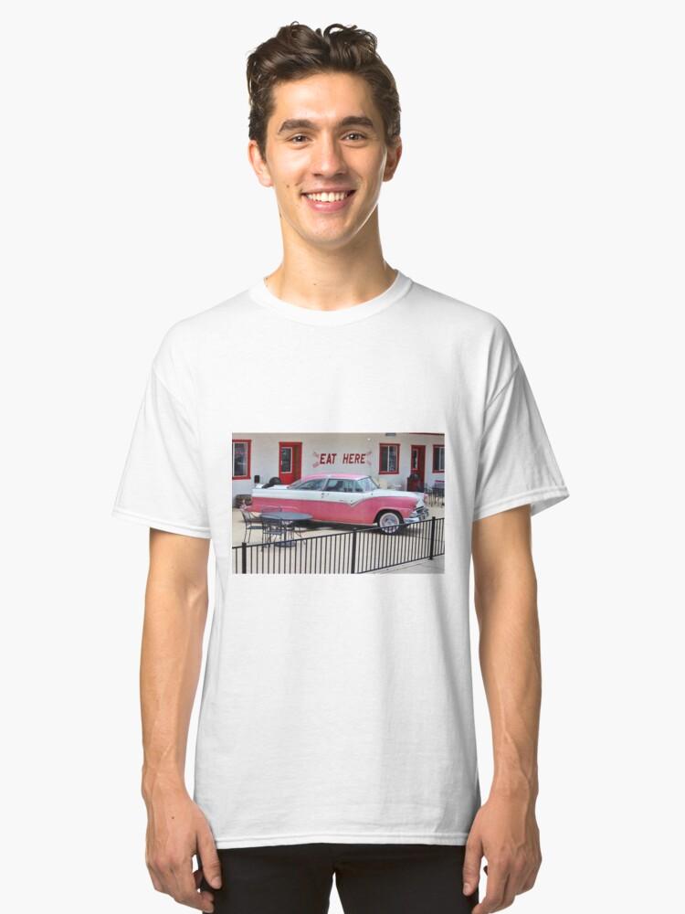 Vintage Pink Car Classic T-Shirt Front