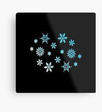 Snowflakes   Winter christmas gift Metal Print