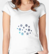 Snowflake | Winter christmas gift Women's Fitted Scoop T-Shirt