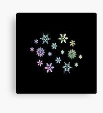 Snowflake | Winter Christmas Ski Snowboard Gift Idea Canvas Print