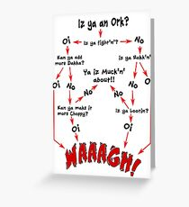 Ork Flow Chart Greeting Card
