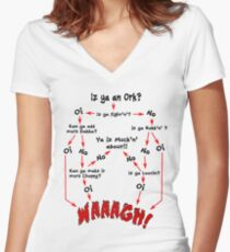 Ork Flow Chart Women's Fitted V-Neck T-Shirt